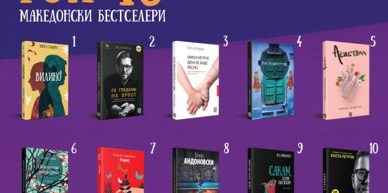 ТОП 10 МАКЕДОНСКИ БЕСТСЕЛЕРИ